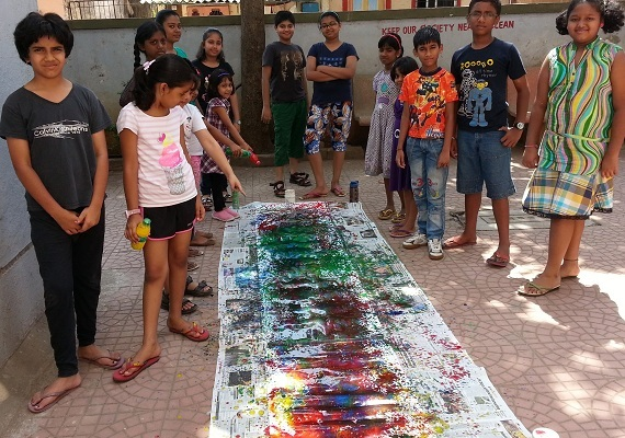 Art camp conducted in littlebrush